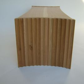 wooden table end