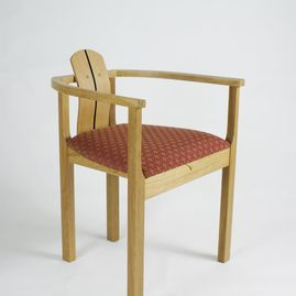 wooden chair side facing